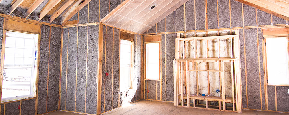 New Home Insulated With FIBER-LITE PLUS Cellulose Insulation5060