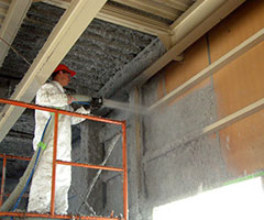 thermal performance,air infiltration,cellulose insulation,green building,commercial buildings