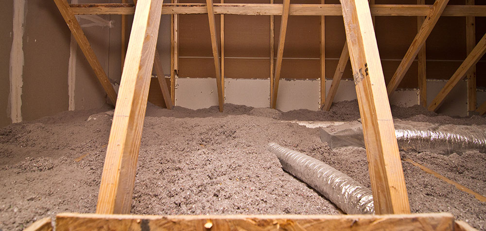 Attic sealed with FIBER-LITE Cellulose Insulation2050