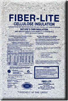 Fiber Lite cellulose insulation