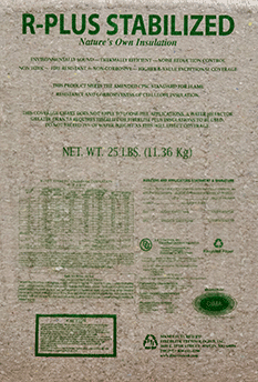 R-PLUS STABILIZED cellulose insulation