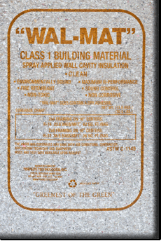 WAL-MAT cellulose insulation