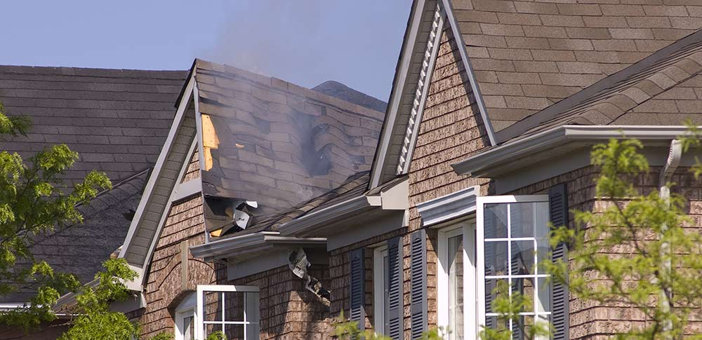 House fire spread slowed with cellulose insulation from Fiberlite Tech5060